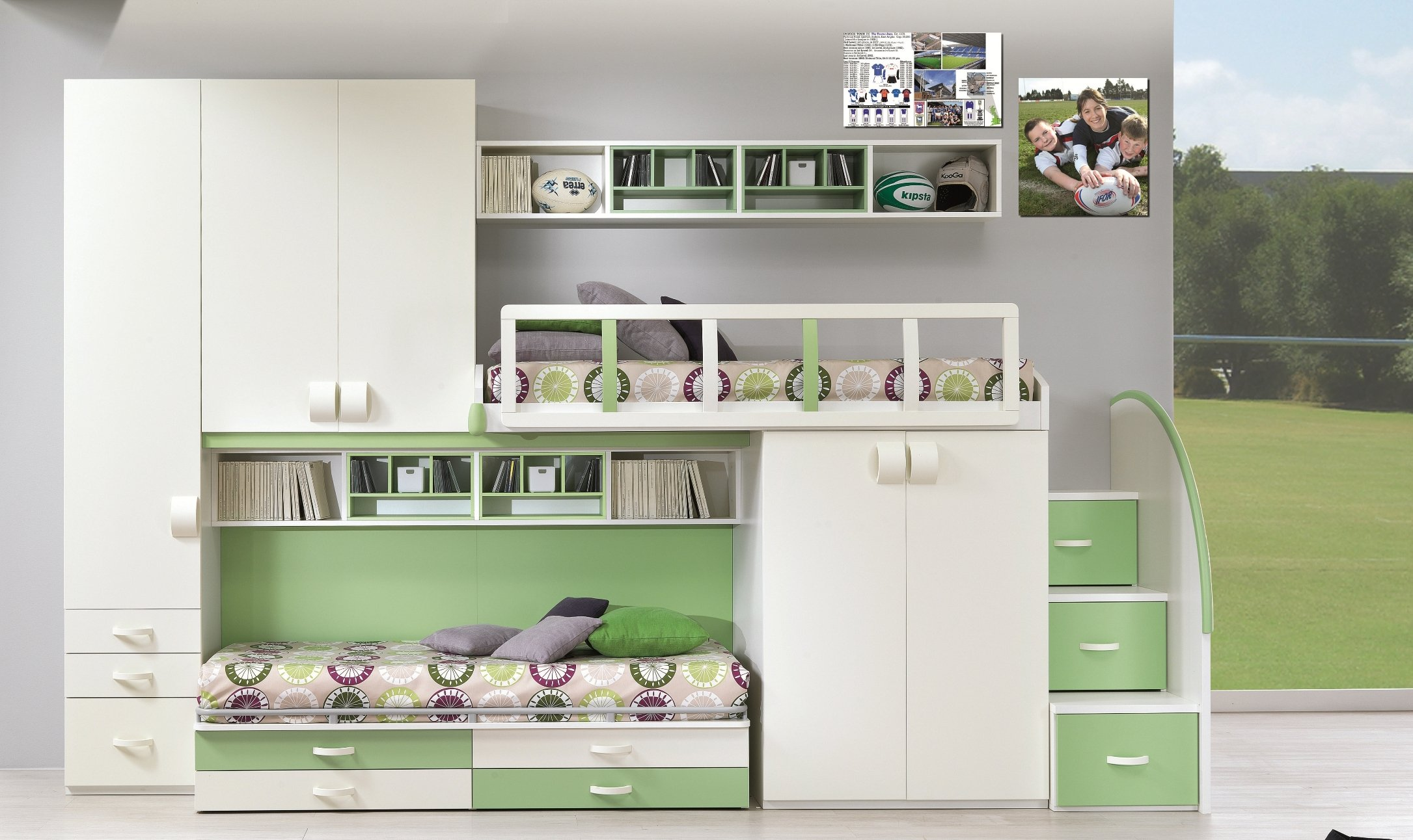 Un pizzico di colorata creativit per la cameretta cose - Giessegi mobili ...