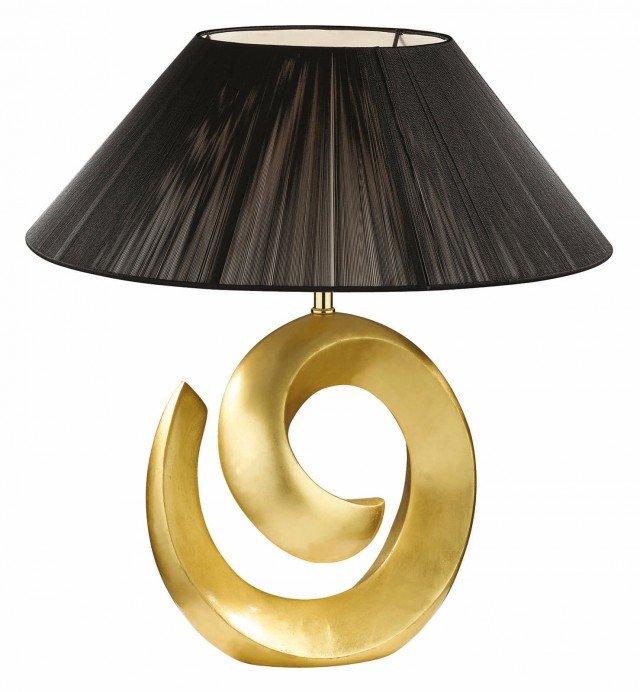 Da tavolo, la lampada Happy-10 tl1 big oro di Ideal Lux è disponibile nei colori oro con paralume nero e argento; misura Ø 46 x H 55 cm. Prezzo con paralume argento 154,88 euro. www.ideal-lux.com/it