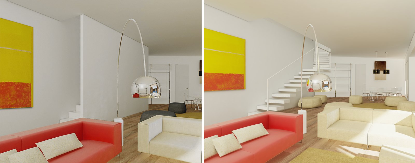Finest pitturare soggiorno soggiorno con angolo cottura for Idee per arredare salone