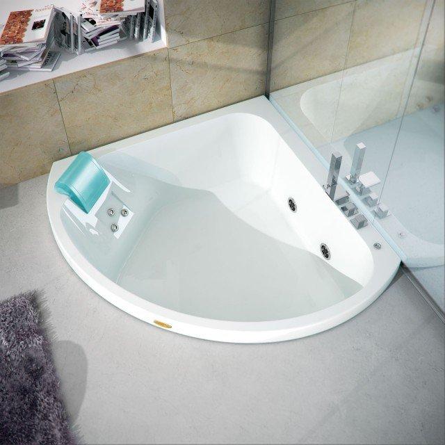 Aquasoul Corner 140 di Jacuzzi è una vasca idromassaggio angolare da incasso. Dotata di sistema Aquasoul, dispone di idromassaggio classico Jacuzzi e idromassaggio dorsale con xxxxx xxxx
