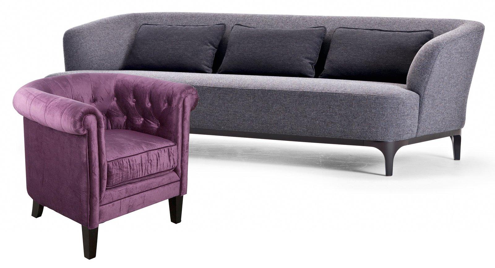 Poltrona e divano idee per abbinarli cose di casa - Divano viola ikea ...