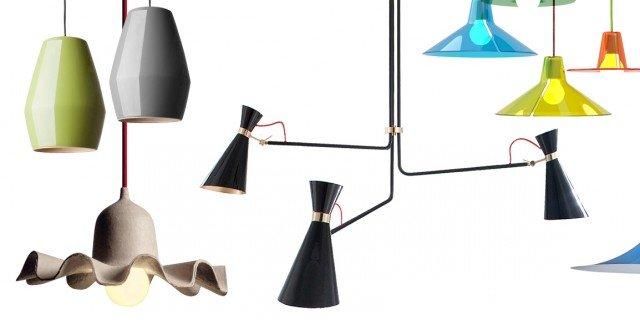 Lampade e lampadari a sospensione in tre stili diversi