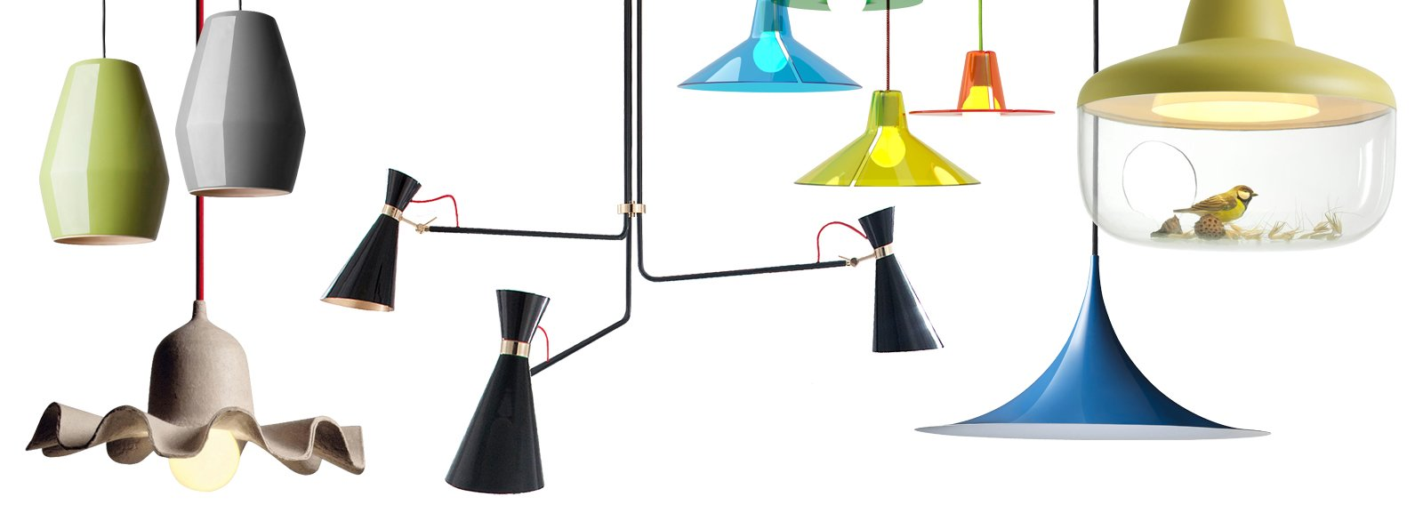 Lampade e lampadari a sospensione in tre stili diversi ...