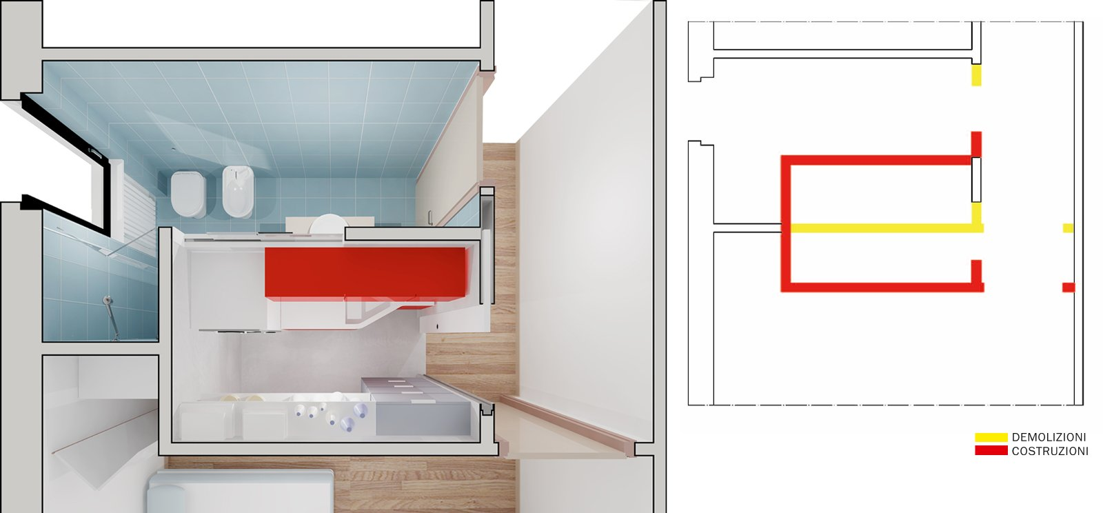 Lavanderia in 3 mq come la ricavo e quanto costa cose - Lavanderia in bagno ...