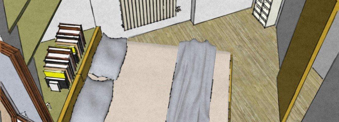 Camera matrimoniale piccola come la arredo cose di casa - Finestra a tre aperture ...
