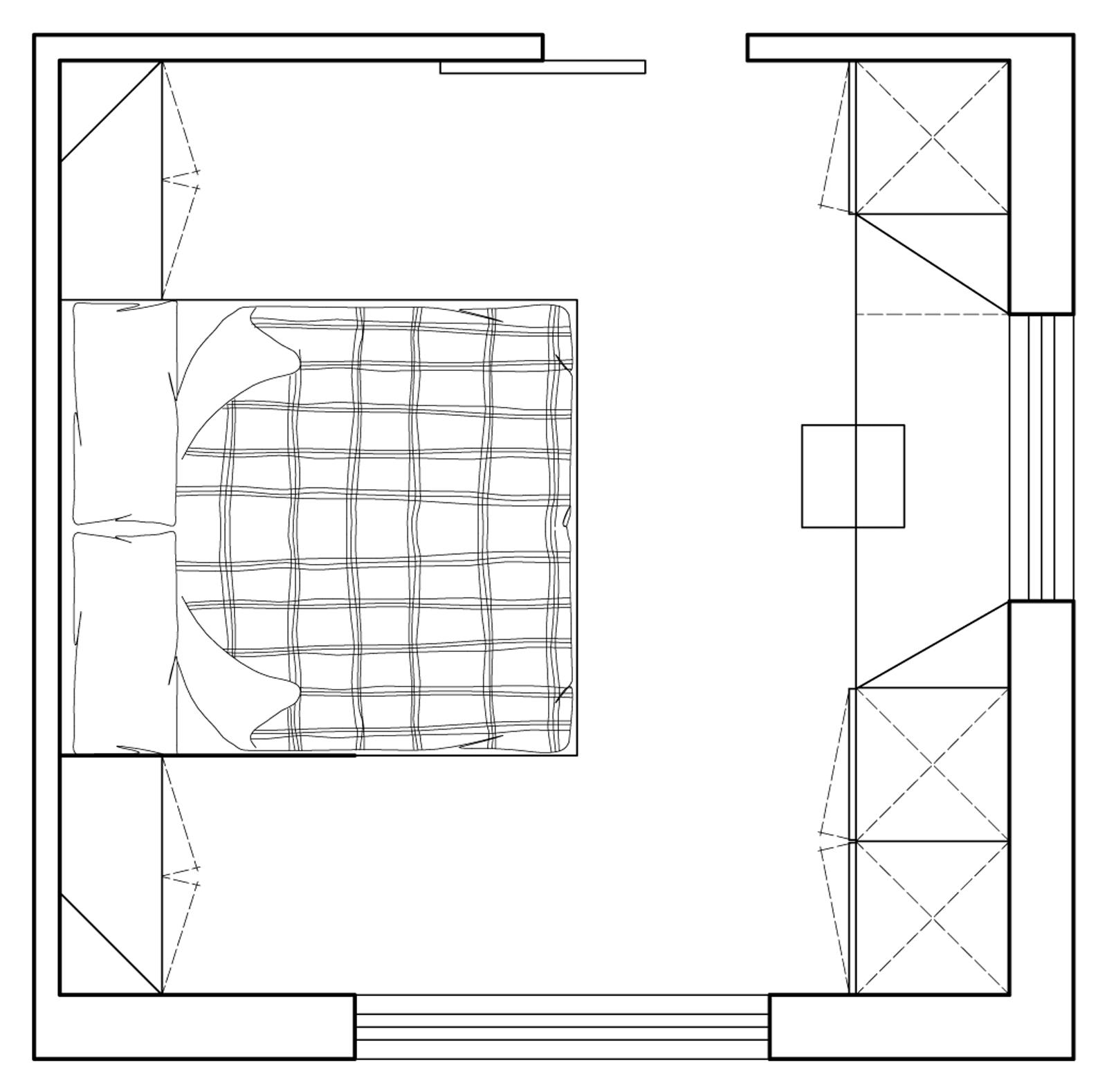 Camera matrimoniale piccola come la arredo cose di casa - Chiudere una finestra di casa ...