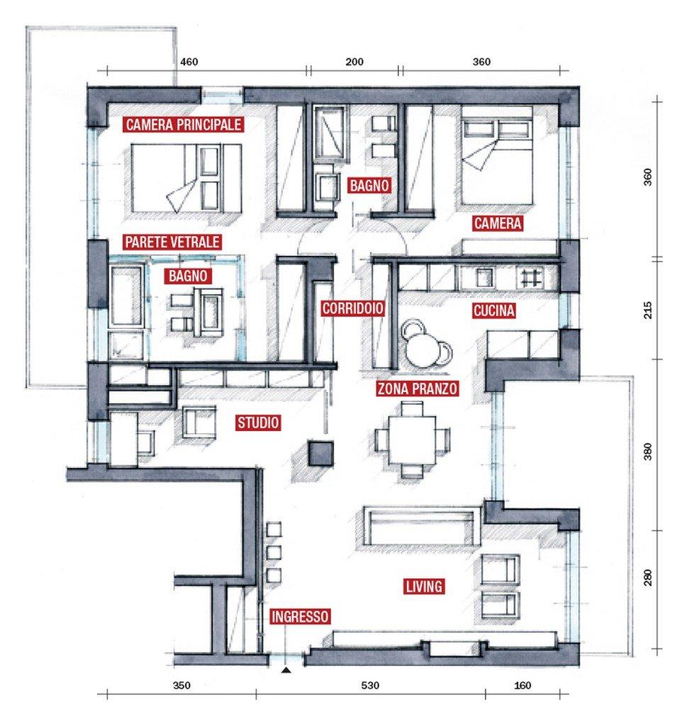 Una casa con una nuova articolata distribuzione cose di casa for Progettare una nuova casa online