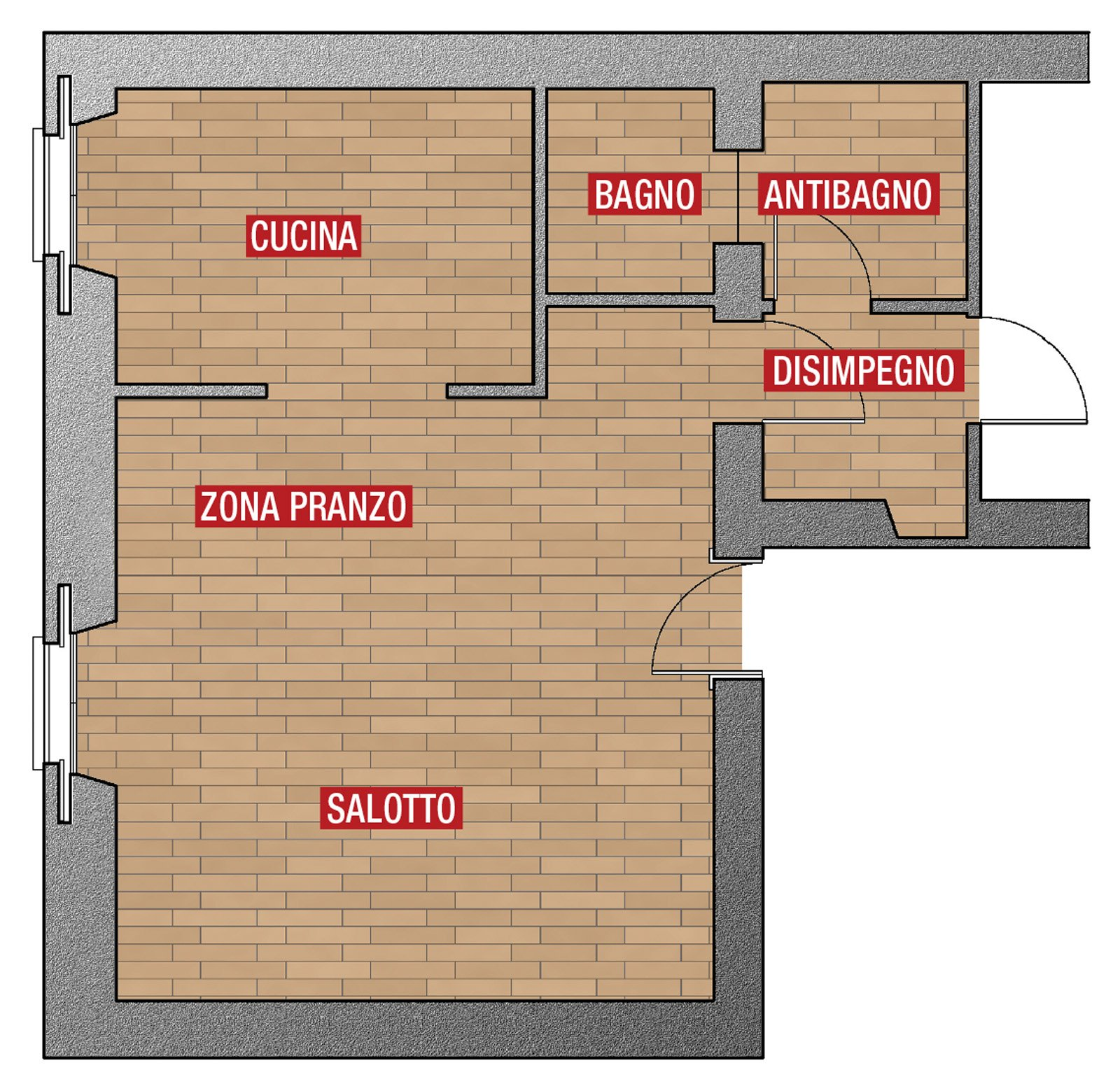 Separare Cucina E Soggiorno Con Un Mobile A Ponte Sulla Porta Cose  #AD1E23 1600 1559 Come Dividere Sala Da Pranzo E Salotto