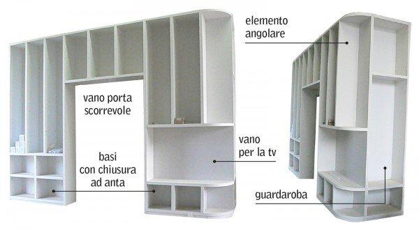Separare cucina e soggiorno con un mobile a ponte sulla porta cose di casa - Mobile porta microonde ...