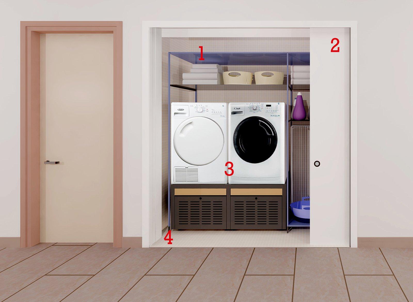 La lavanderia in 1 5 mq cose di casa for Mobile per terrazzo
