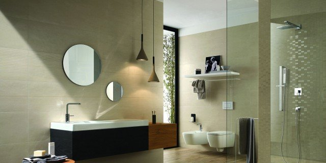 Piastrelle per il bagno tre stili diversi cose di casa for Piastrelle bagno mosaico grigio