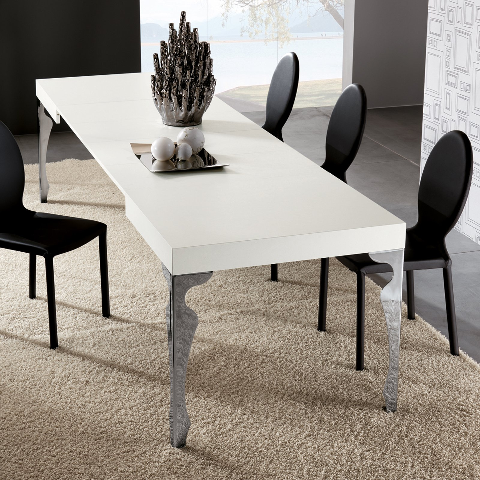 Tavolo Bianco E Sedie Nere.Tavolo Bianco Da Abbinare A Tutto Cose Di Casa