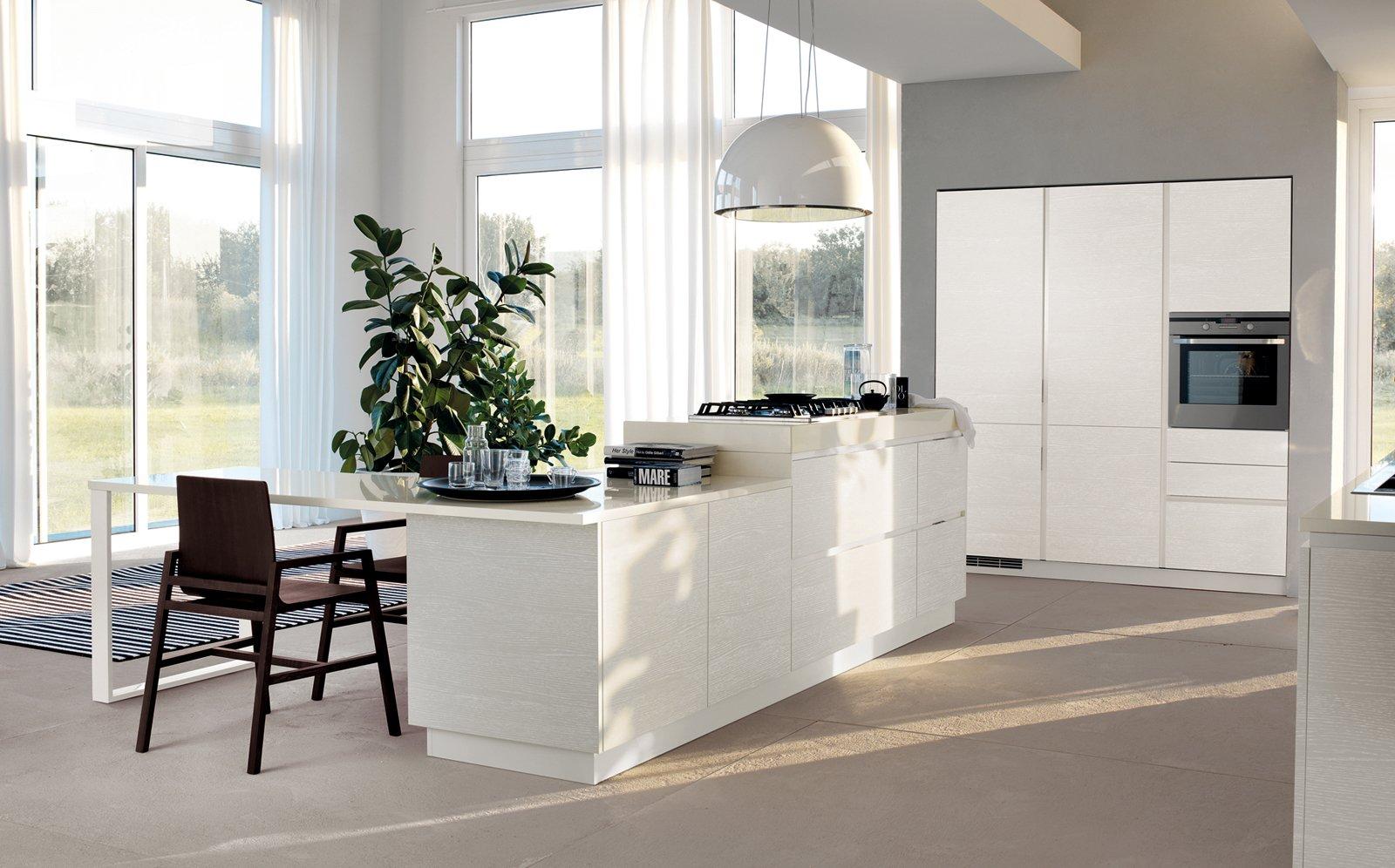 Open Space Che Inglobano Cucina Sala Da Pranzo E Living. L'isola  #4A5B3E 1600 996 Cucine Veneta Con Isola
