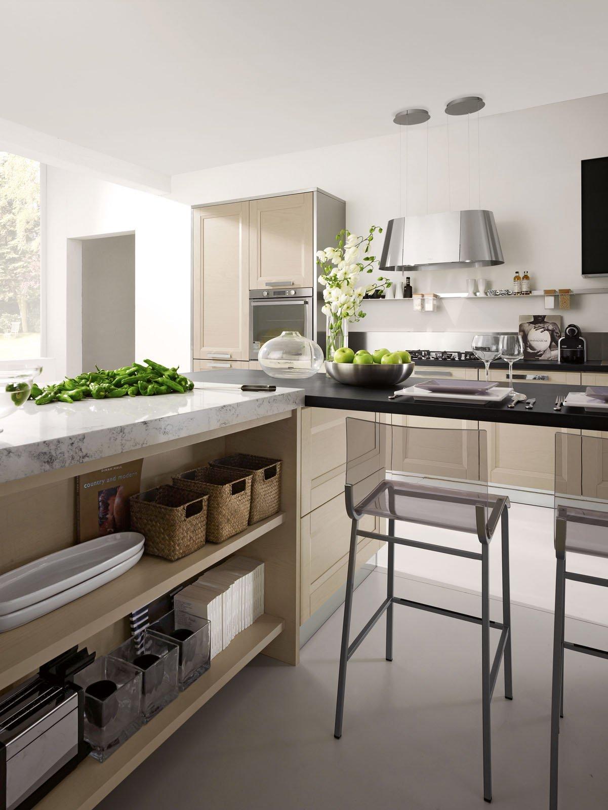 Di Stosa Cucine è Proposta Nella Finitura Anta Legno Canapa Con  #476518 1201 1600 Cucine Classiche Con Isola