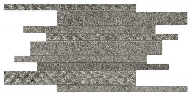 È in gres porcellanato la composizione a parete composta da listelli intrecciati Melange in grigio e antracite ideale per la cucina in stile moderno. La composizione formata da 9 pezzi misura 29 x 61 cm. Il formato 12 x 12 cm, Iva esclusa e al mq, costa 83,54 euro. www.tagina.com
