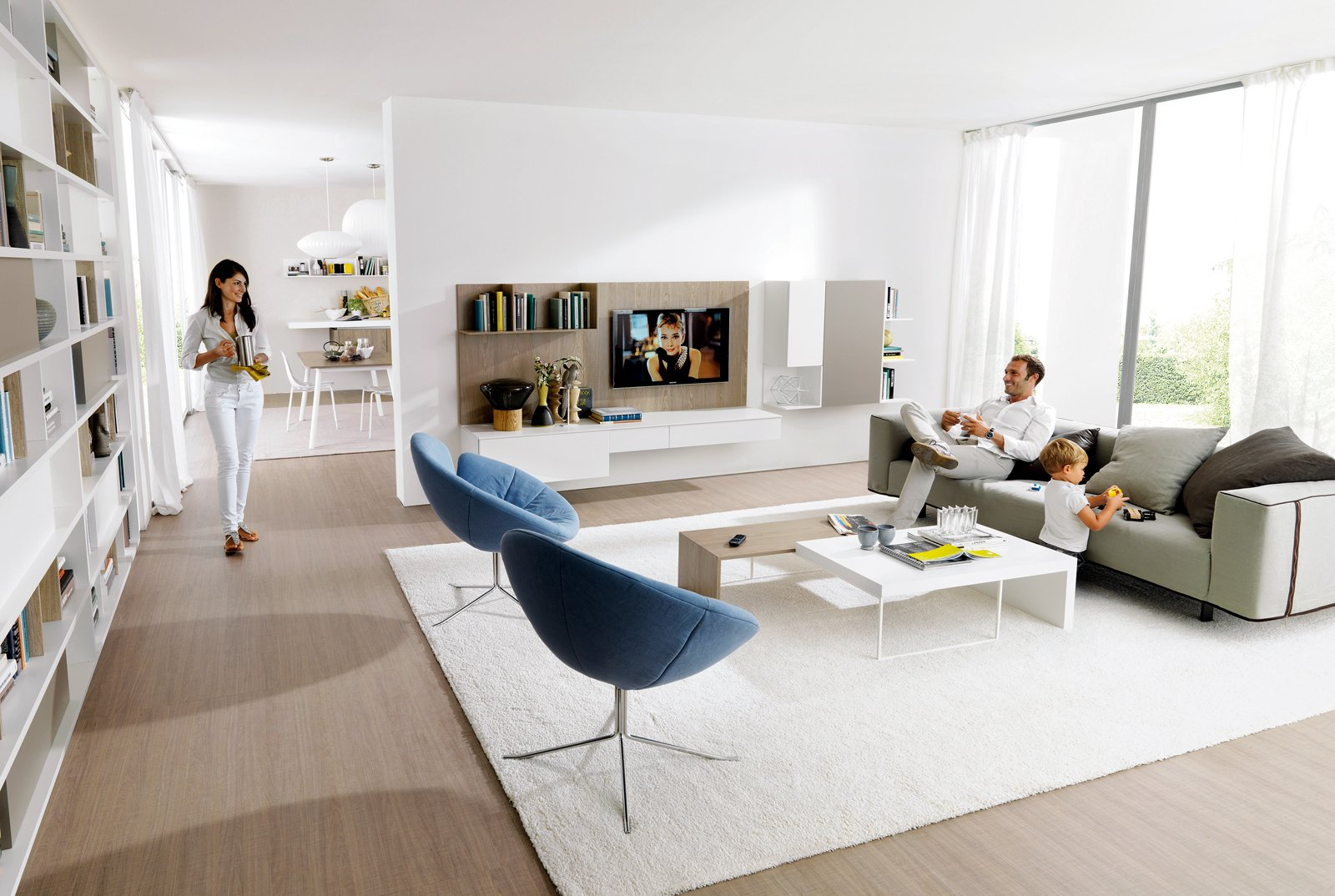 Soluzioni per la casa il soggiorno sembra pi grande for Arredare casa in bianco