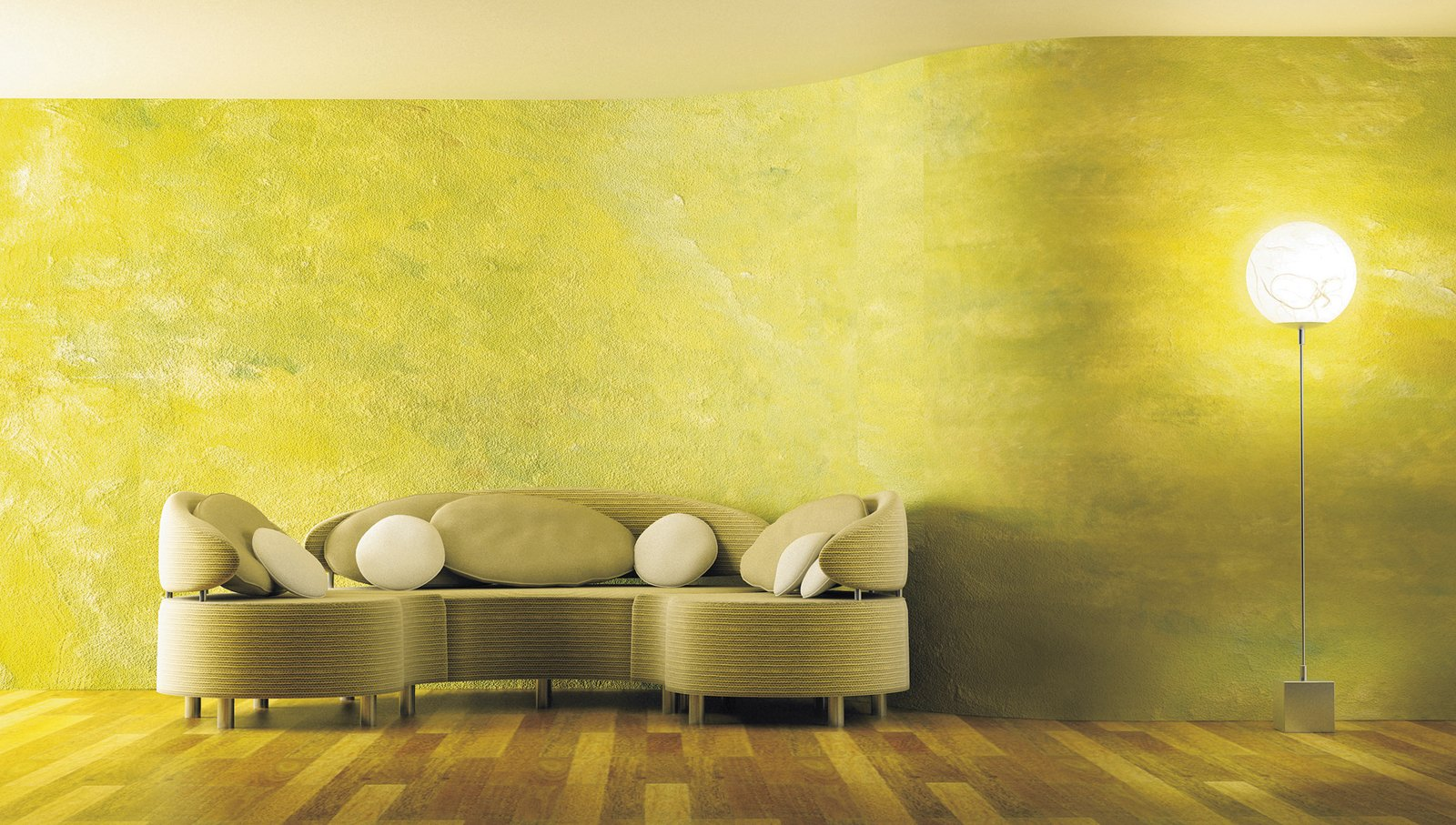 Con la spugnatura parete protagonista cose di casa - Tecnica di pittura per pareti interne ...