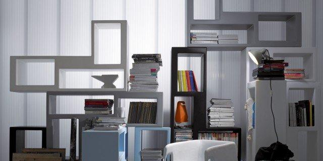 Mini librerie salvaspazio. A parete o in mezzo alla stanza