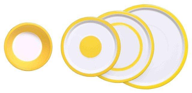 La collezione Variopinte di Virages offre un ventaglio di colorazioni vivaci e allegre, perfette per portare allegria in tavola! Piatti piani, piatti fondi e ciotole sono state concepite per impilarsi perfettamente tra loro e formare un insieme armonioso e grafico. Ogni piatto è frutto di un lavoro di ricerca sull'equilibrio grafico dei colori: mischiate le colorazioni e create degli effetti visivi unici sulla vostra tavola. La collezione Variopinte è composta da un piatto piano, una ciotola, un piatto frutta e un piatto fondo, lavabili in lavastoviglie. Prezzo piatto piano 13,90 euro. Acquistabile su www.madeindesign.