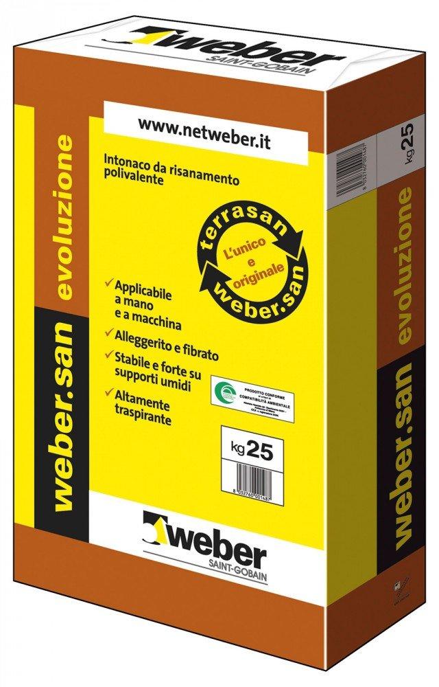 Si applica a mano o a macchina su supporto umido, l'intonaco weber.san evoluzione di Weber Saint-Gobain, che limita e controlla i fenomeni di condensa. www.netweber.it