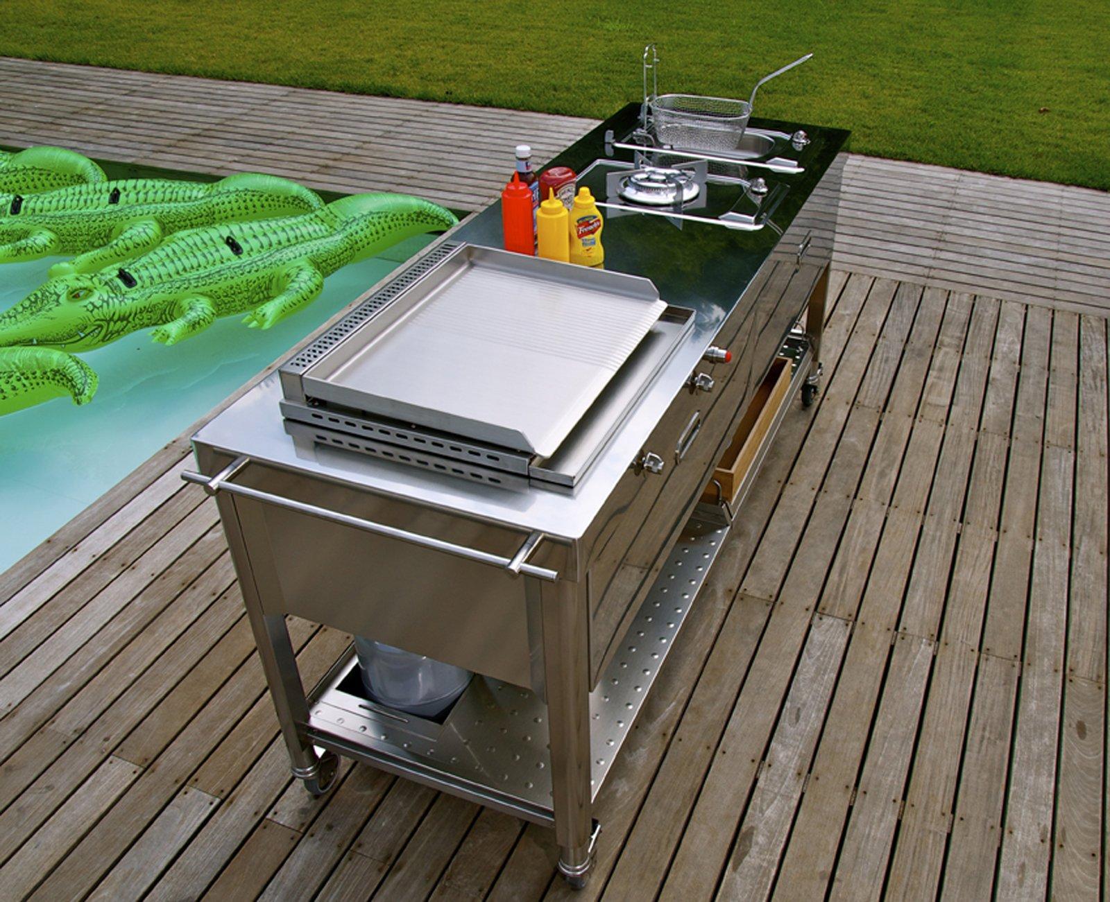 Barbecue la cucina si sposta in giardino cose di casa - Cucina da giardino ...