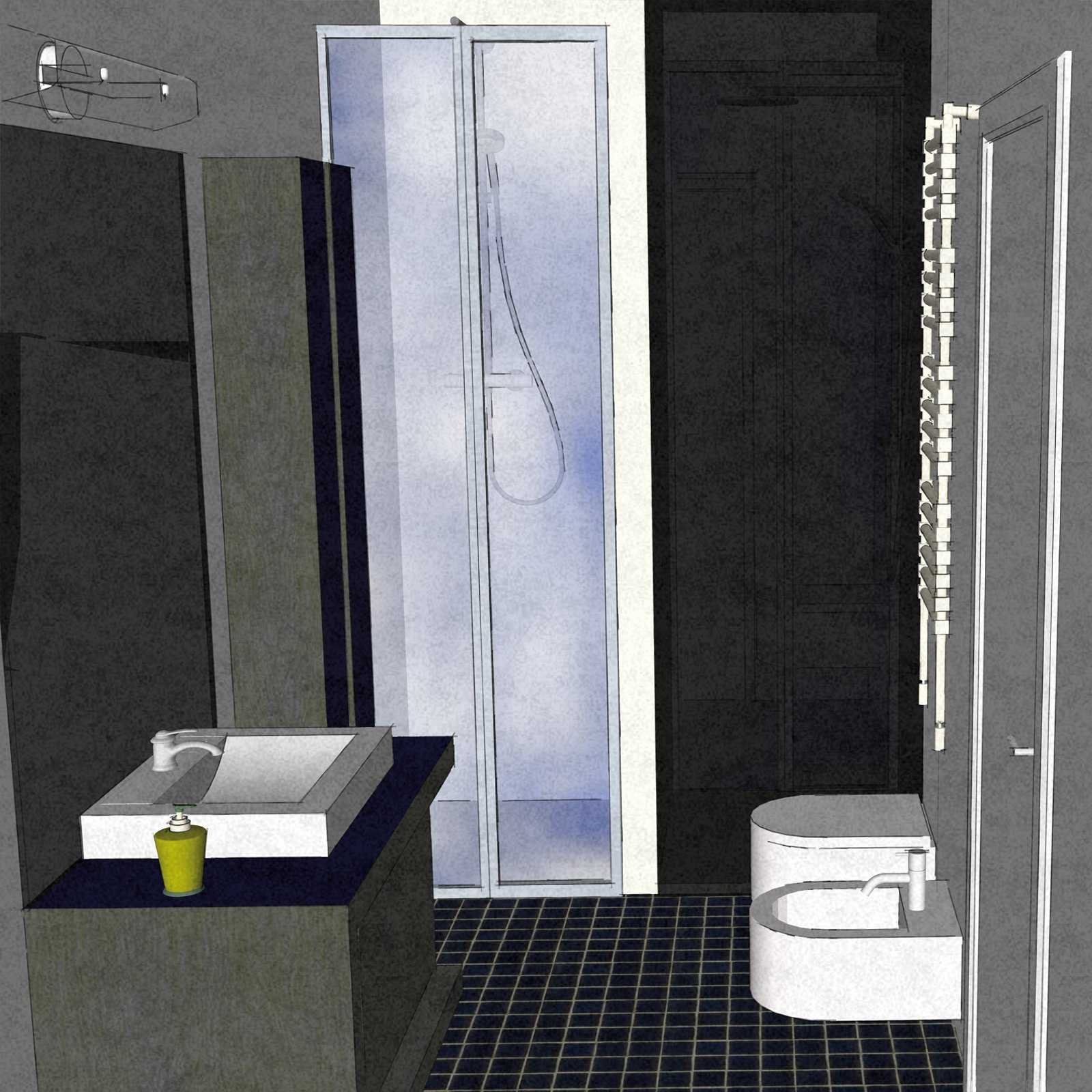 Dal bagno lungo e stretto ricavarne due cose di casa - Bagno stretto e lungo con doccia ...