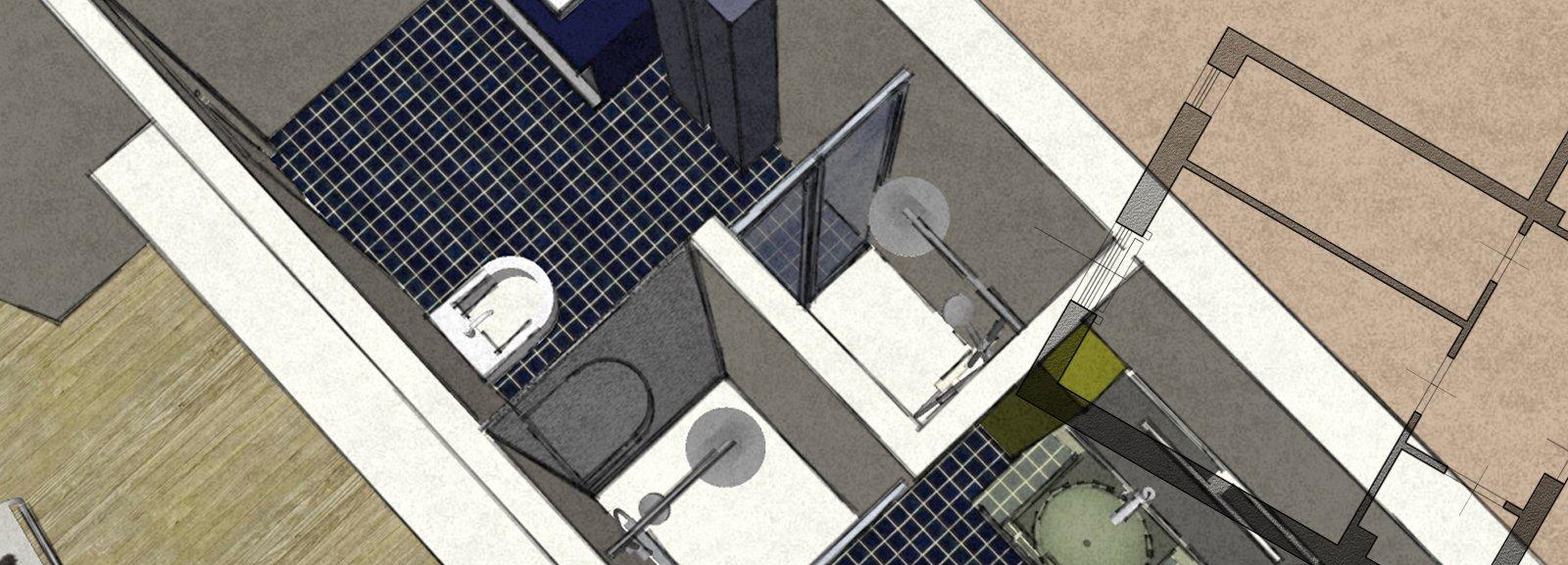 Dal bagno lungo e stretto ricavarne due cose di casa - Tavolo lungo e stretto ...