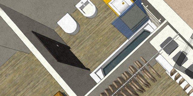 Dal bagno lungo e stretto, ricavare la cabina armadio. Con i costi