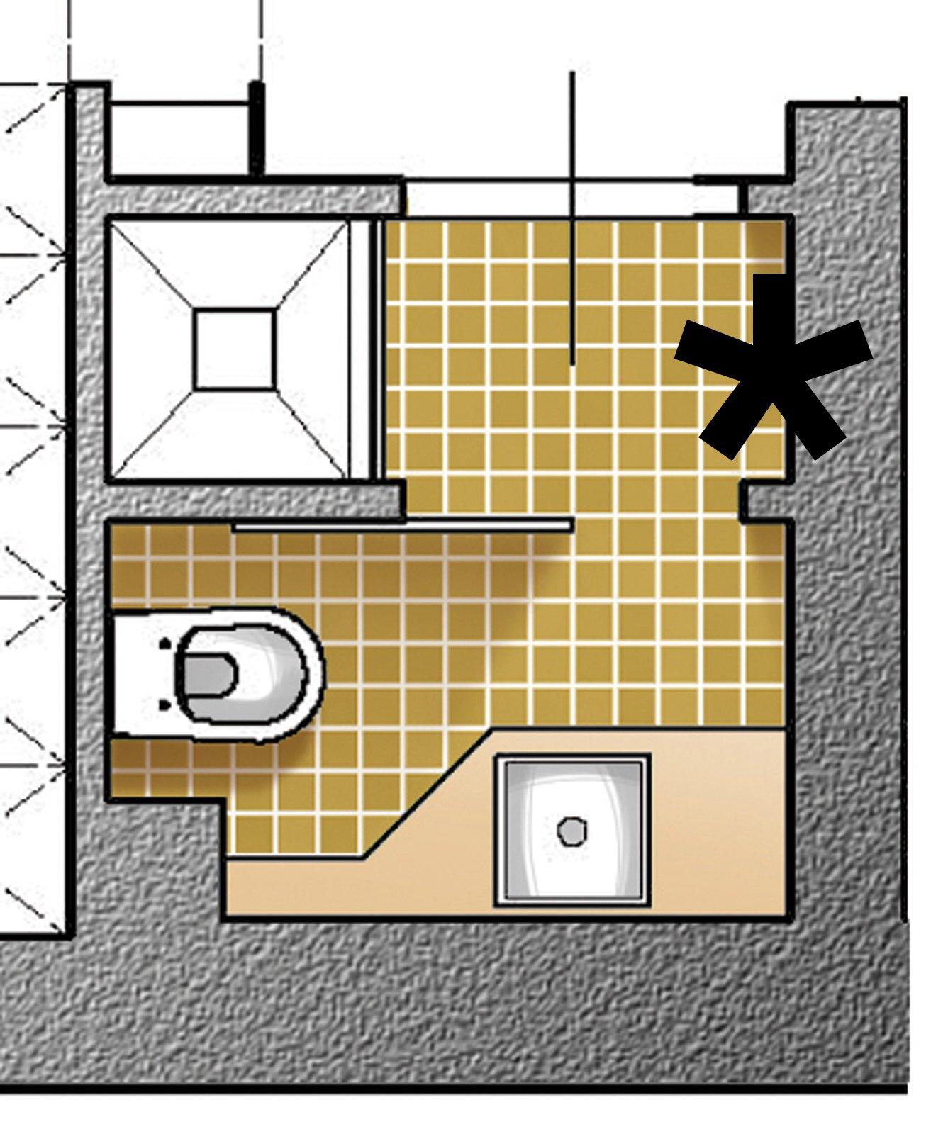 Dal bagno lungo e stretto ricavare la lavanderia il - Progetto di un bagno ...