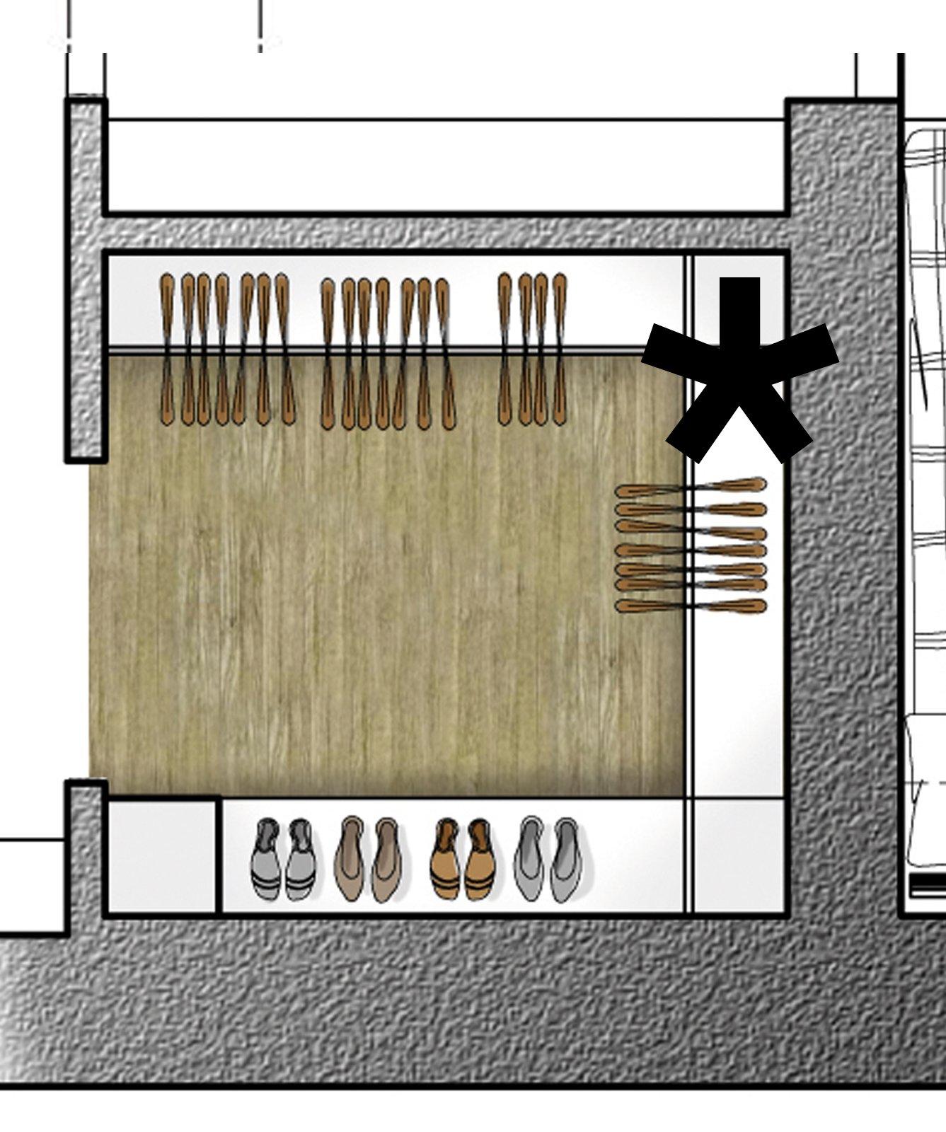 Dal bagno lungo e stretto ricavarne due cose di casa for Cabina armadio attraverso il bagno