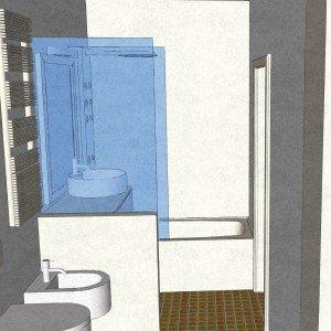 Dal bagno lungo e stretto ricavare la lavanderia il - Arredare bagno lungo e stretto ...