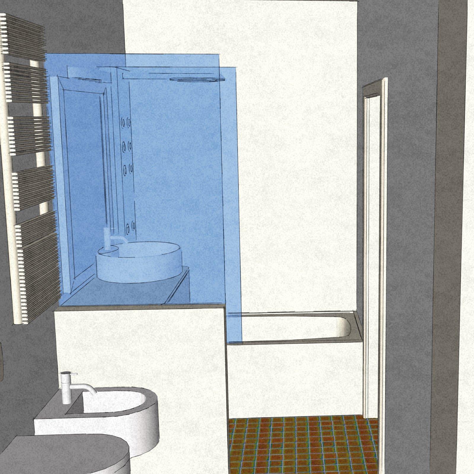 Dal bagno lungo e stretto ricavare la lavanderia il - Bagno stretto e lungo con doccia ...