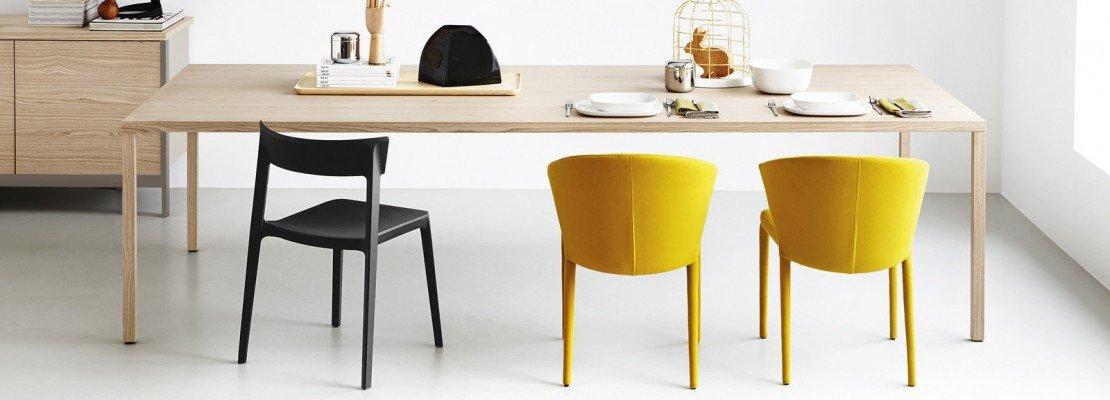 Sedie per tavolo in vetro sedie da cucina moderne for Tavoli allungabili grancasa