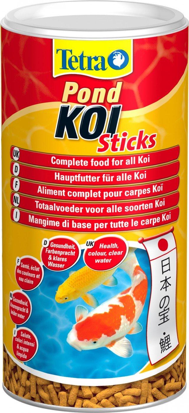 Pond KOI Sticks di Tetra è il mangime premium completo in forma di stick galleggianti, sviluppato specificamente per garantire una dieta sana e bilanciata alle carpe Koi. Confezione da 1 litro, prezzo 6,30 euro - www.tetraitalia.it