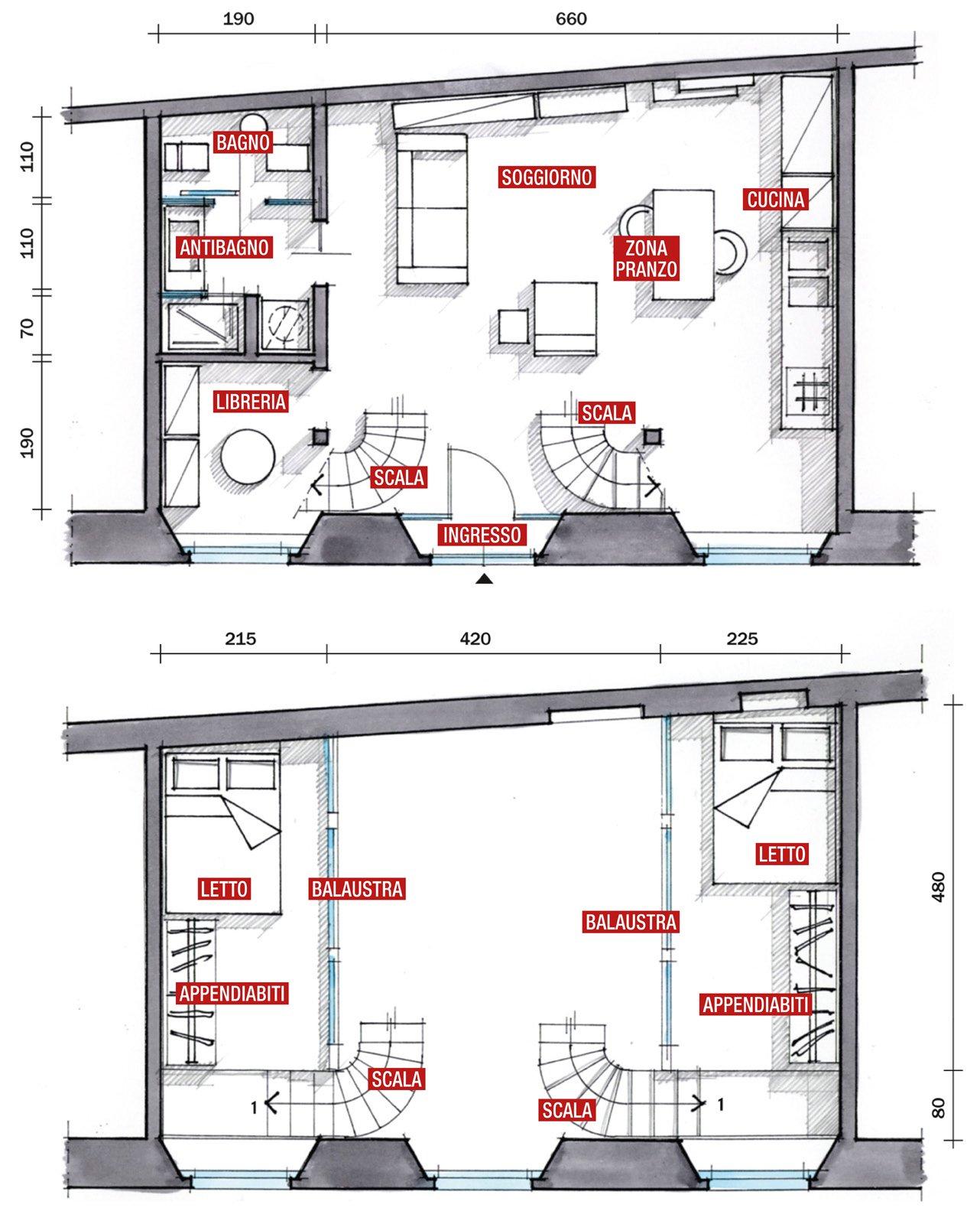 Mini loft la casa recupera spazio con nuovi soppalchi for Moderni disegni di case a due piani