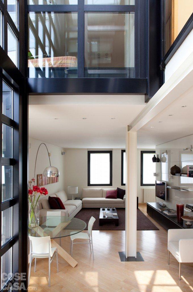 Una casa con soluzioni che moltiplicano la luce cose di casa - Soluzioni cucina soggiorno ...