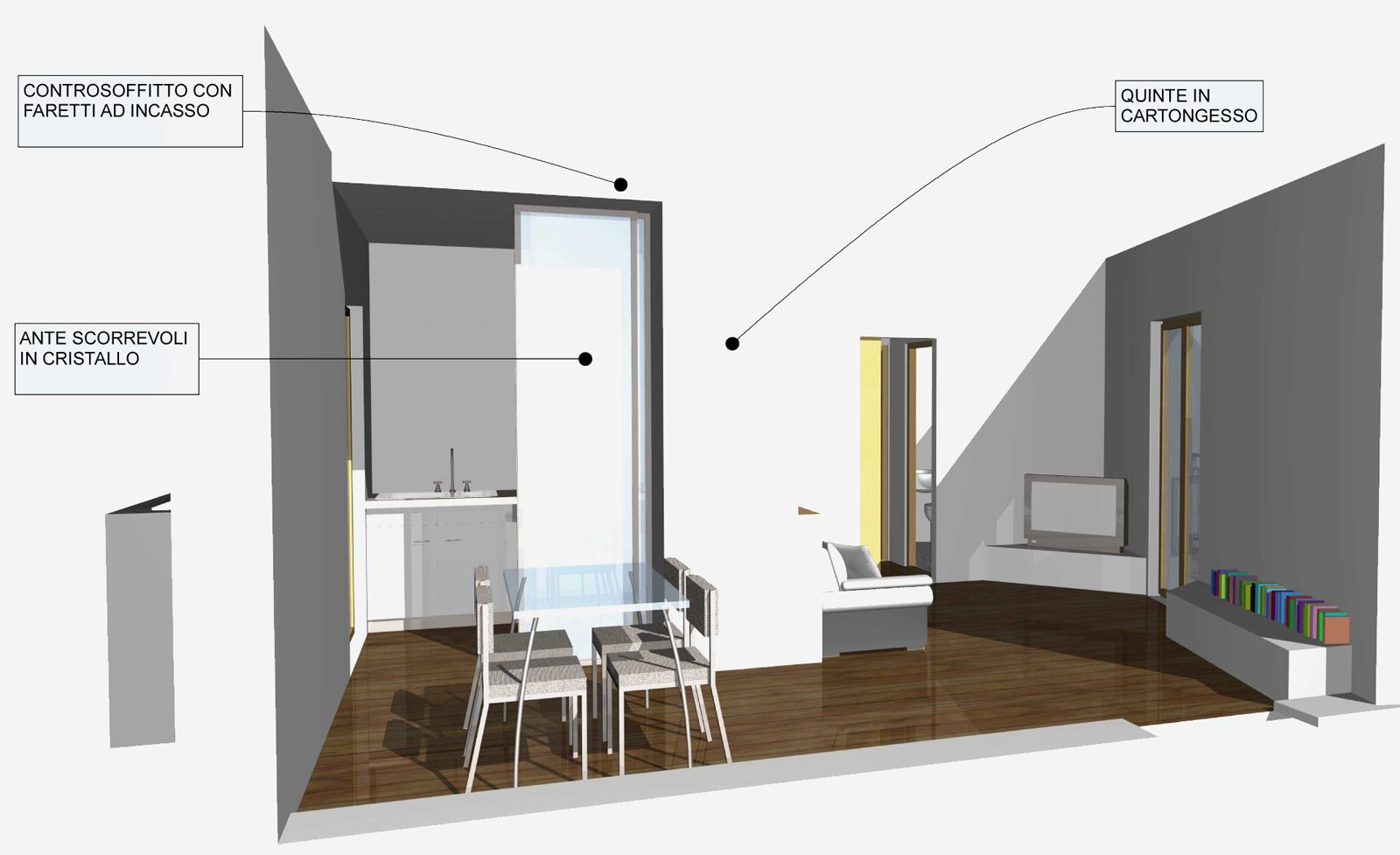 Ingresso in cucina soluzioni be61 regardsdefemmes for Soluzioni soggiorno