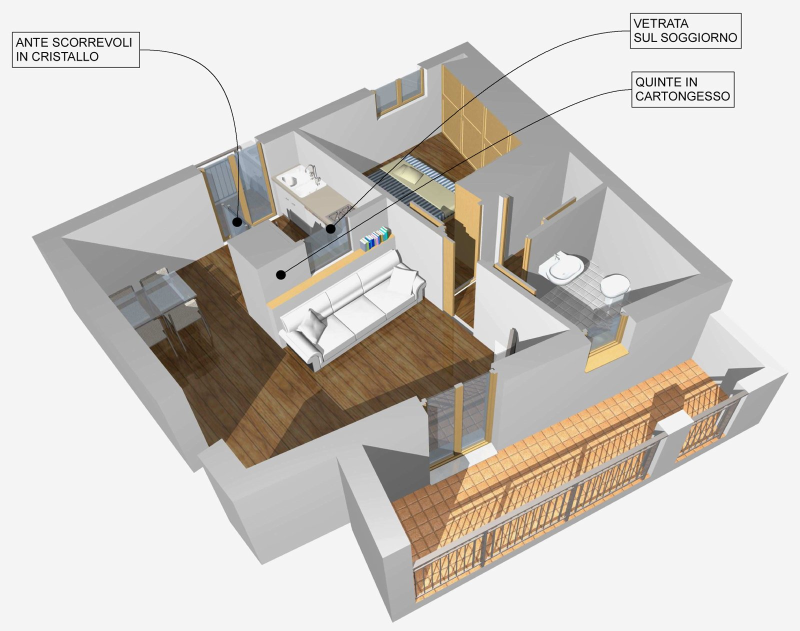 Come dividere il soggiorno dall 39 angolo cottura cose di casa - Idee per arredare soggiorno con angolo cottura ...
