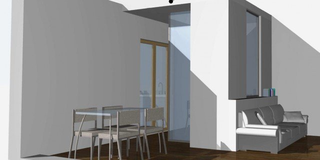 Come dividere il soggiorno dall'angolo cottura?