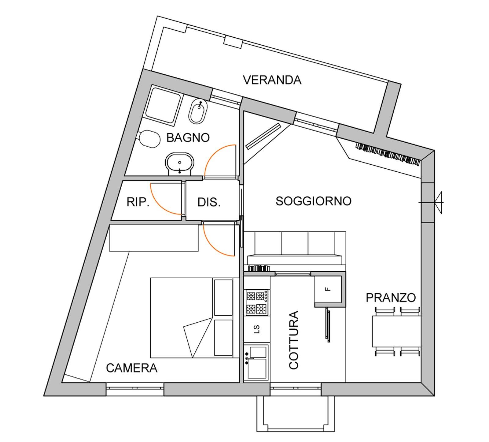 Come dividere il soggiorno dall 39 angolo cottura cose di casa for Come disegnare i miei piani di casa