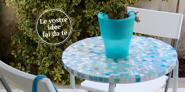 Tavolino a mosaico per l 39 estate cose di casa for Mosaico fai da te