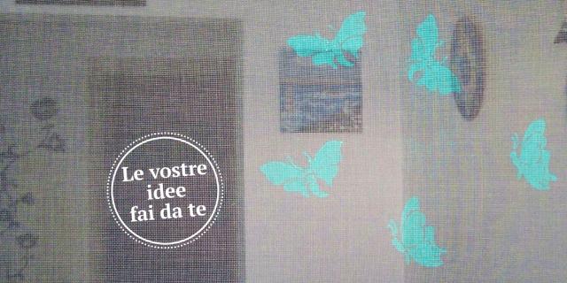 """La zanzariera dipinta: più allegra e """"visibile"""" con il volo di farfalle"""
