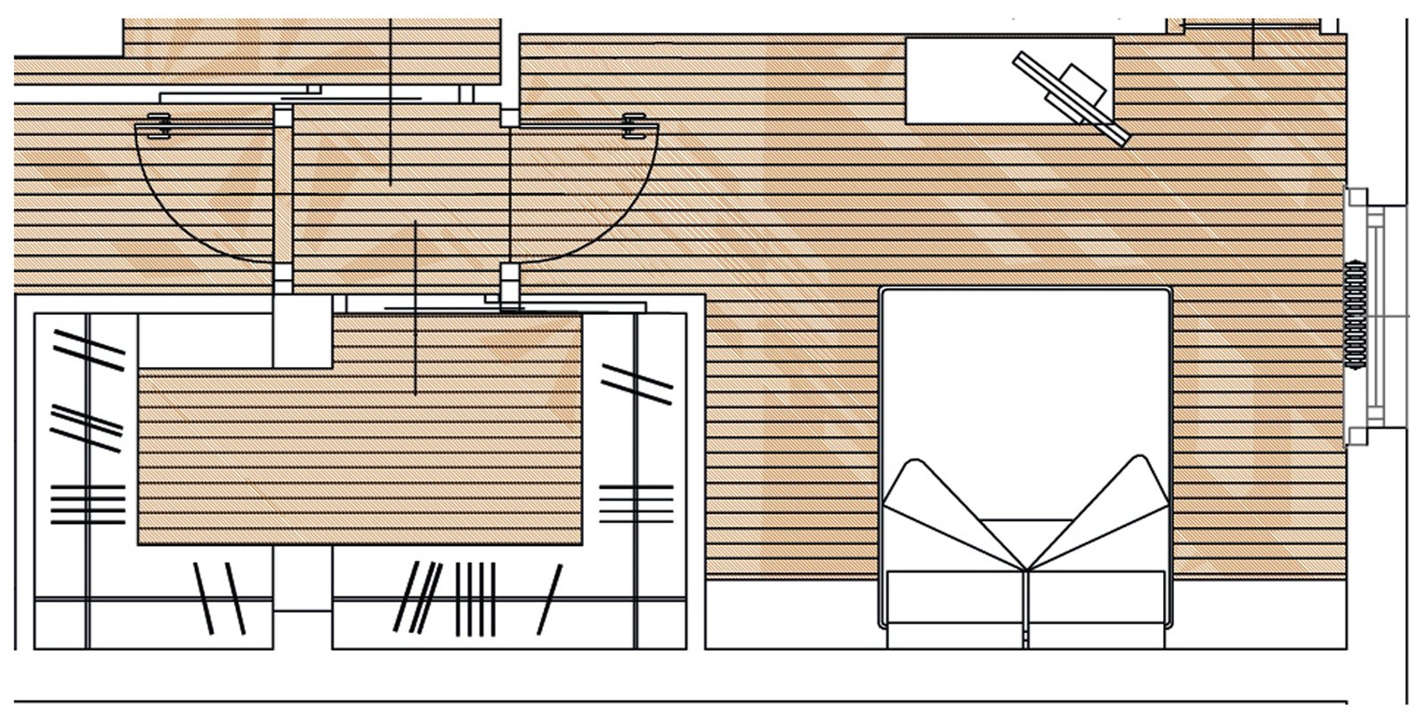 Percorsi ridisegnati per una casa pi vivibile cose di casa - Camera da letto con cabina armadio e bagno ...