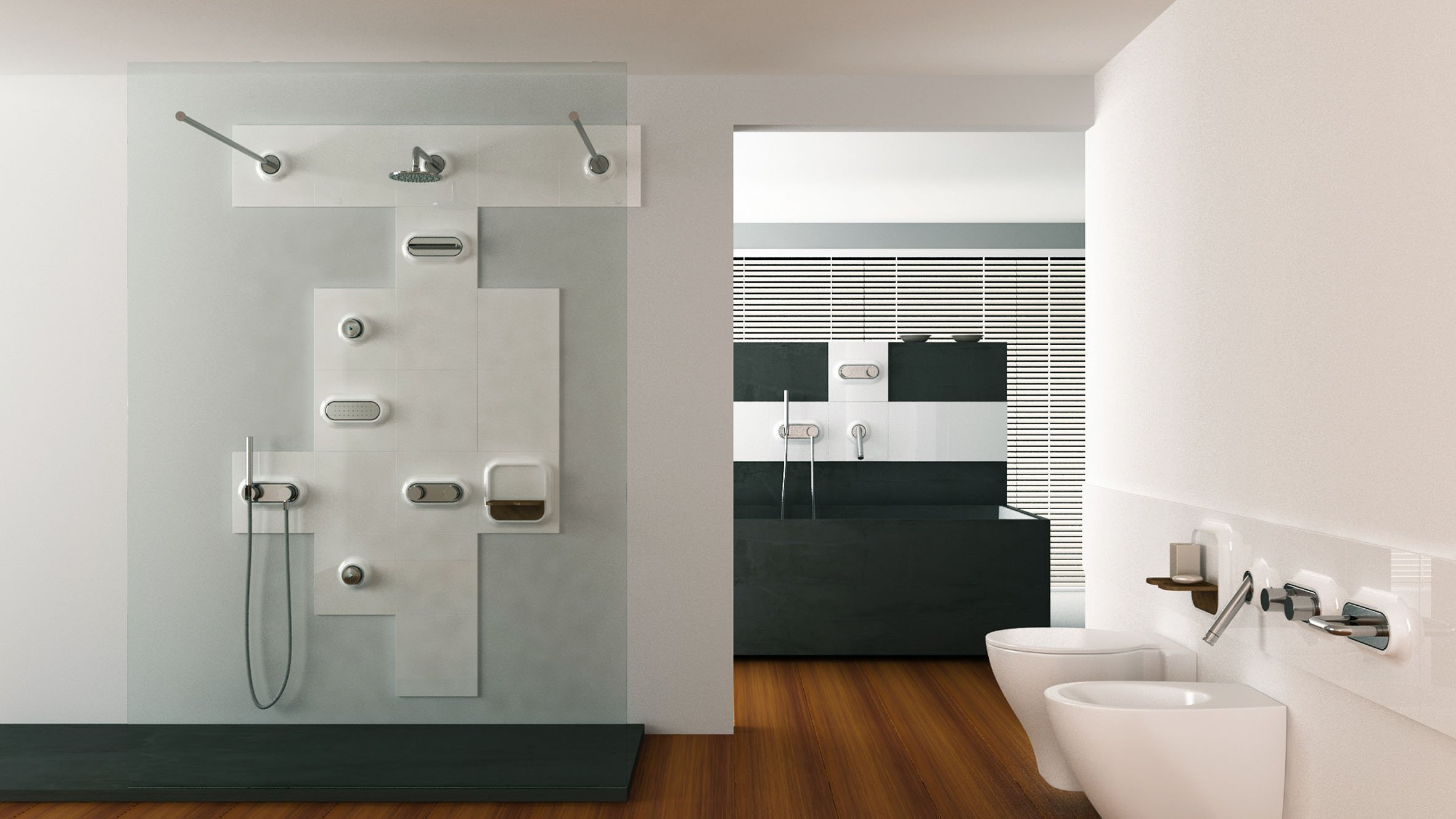 Specchio incassato nel muro bagno mq idee per far sembrare più