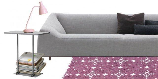 Soggiorno: idee da copiare in grigio e rosa