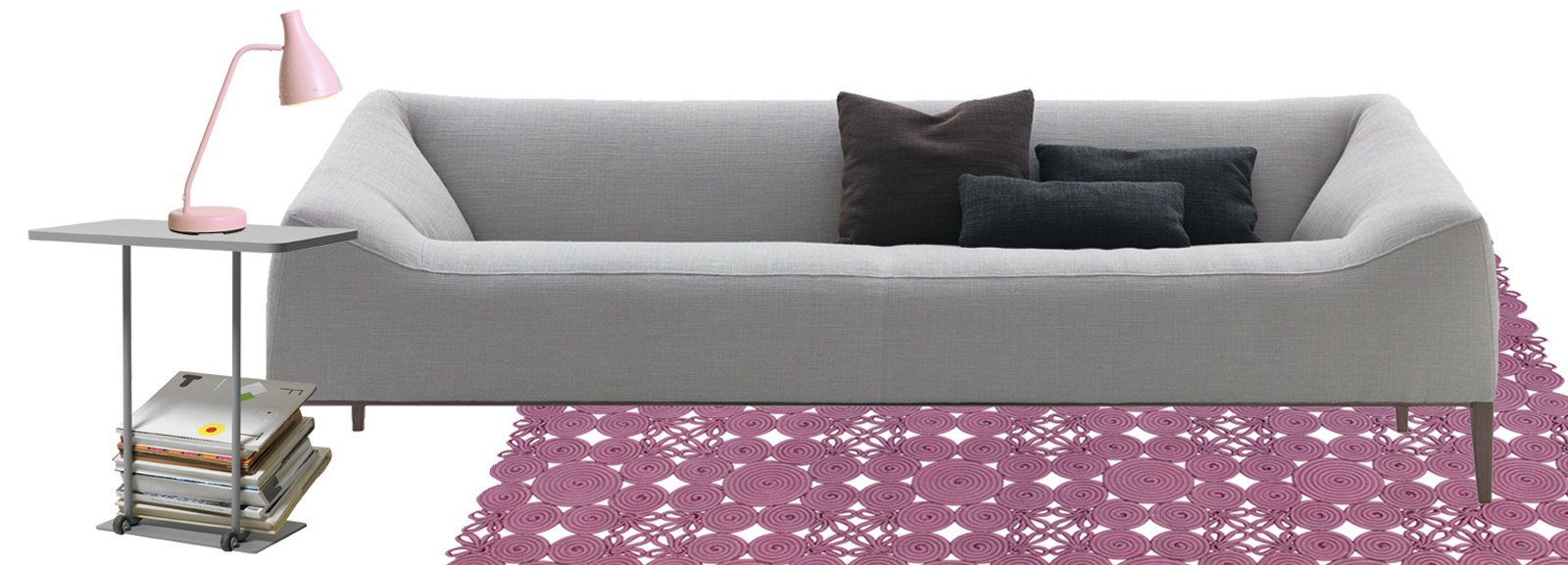 Soggiorno idee da copiare in grigio e rosa cose di casa for Arredamento idee da copiare