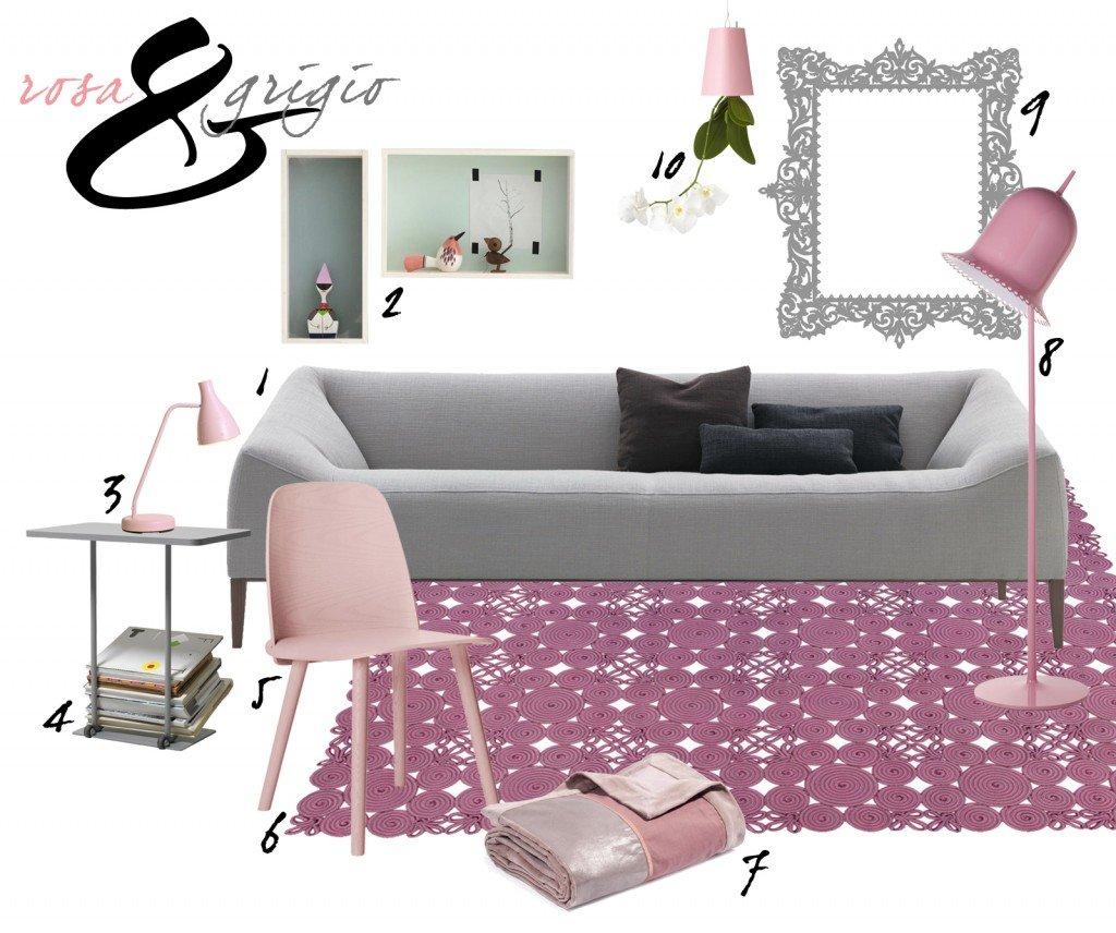 Soggiorno: idee da copiare in grigio e rosa - Cose di Casa