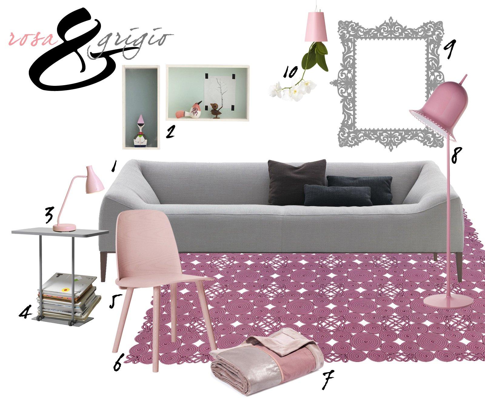 soggiorno: idee da copiare in grigio e rosa - cose di casa - Soggiorno Grigio E Lilla