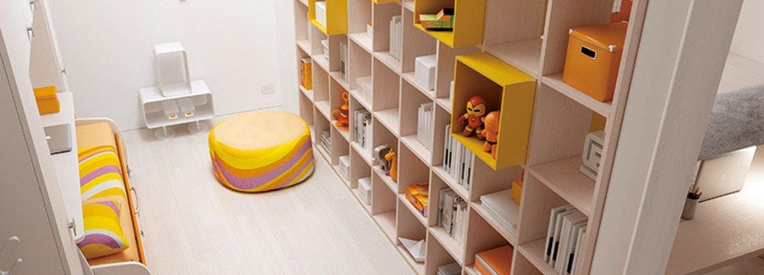 La libreria per dividere due stanze - Cose di Casa