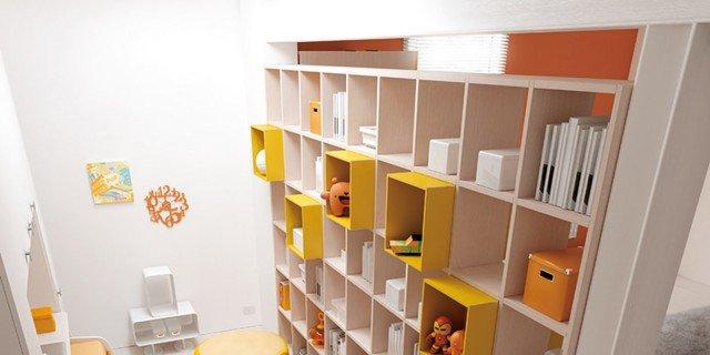La libreria per dividere due stanze